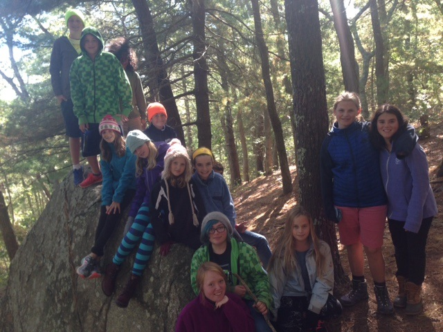 Lindsey's 7/8th Grade Class Goes Camping
